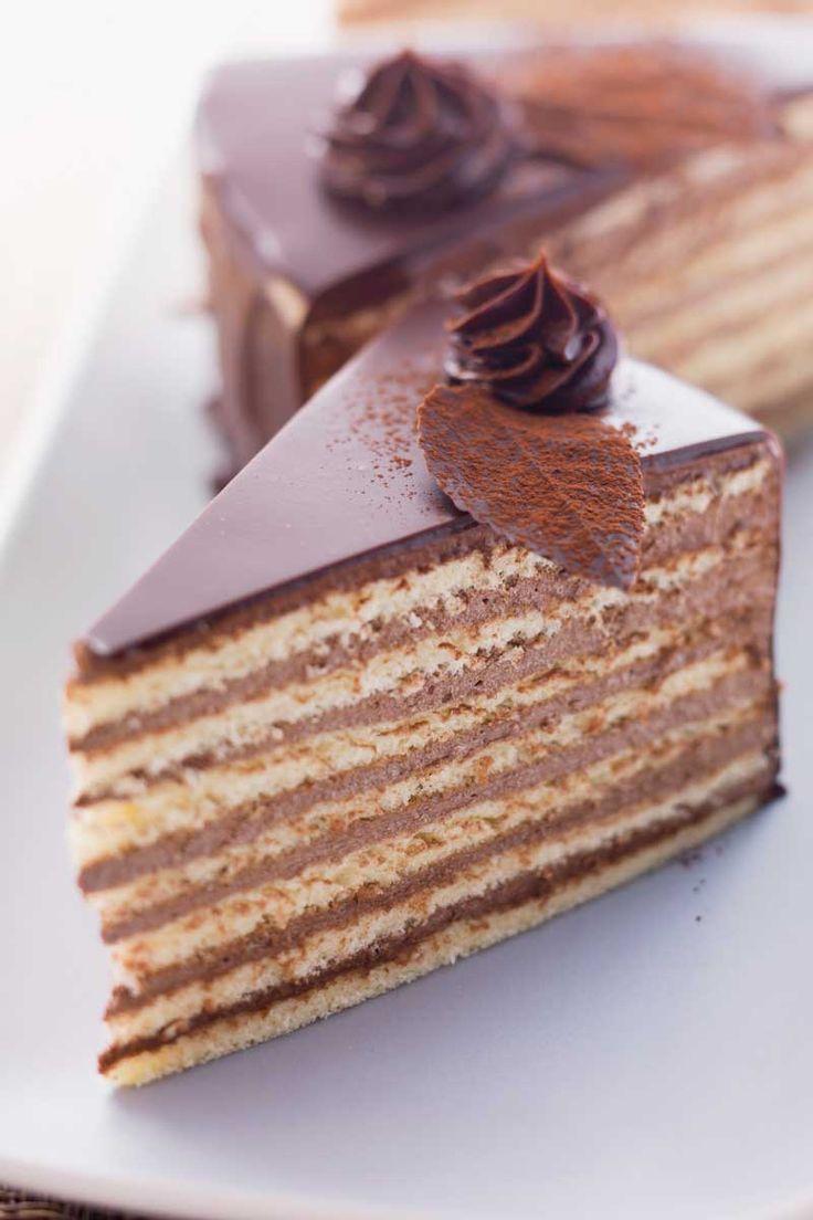 Prinzregententorte (Bavaria) La tarta del principe regente Leopoldo.