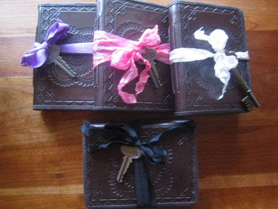 Sweet Sixteen Party Favors Small Brown Leather by trusted on Etsy, $75.00