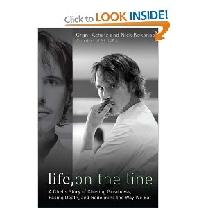 Life, on the Line: A Chef's Story of Chasing Greatness, Facing Death, and Redefining the Way We Eat - recommended by Mark Hinrichs