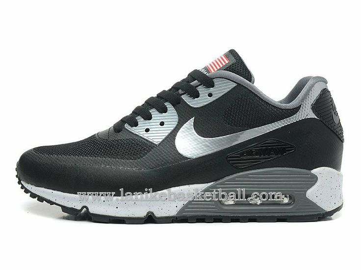 quality design 3c8ba 979ae ... Nike Air Max 90 Hyperfuse QS Independence Day Chaussures De Basket Pour  Homme Noir Argent 613841 ...