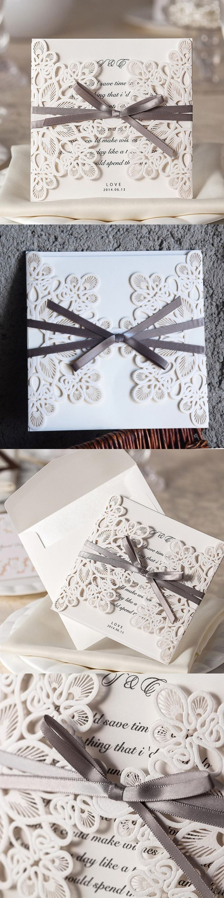 paper cut wedding invitations uk%0A White Floral Laser Cut Wedding Invitation   Pcs Sample Customized Table Card  Seat Card Place Card New Design Wedding Favor