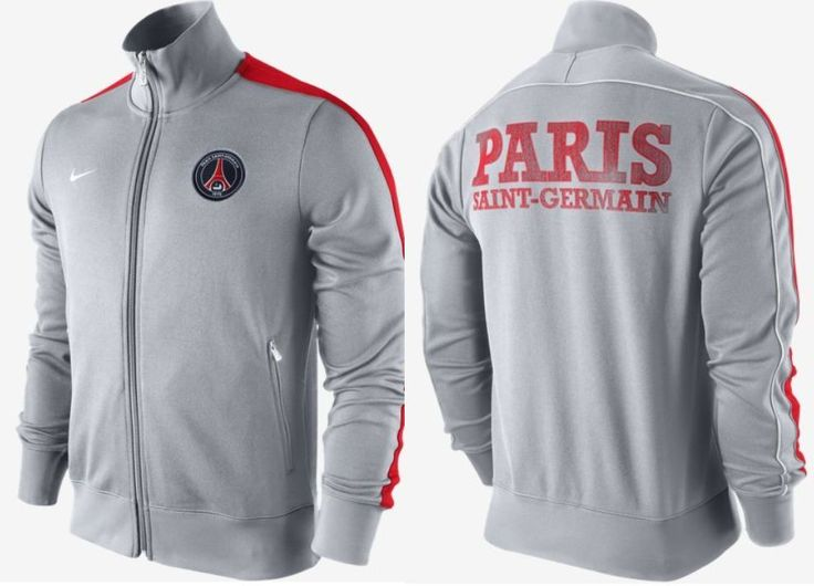 Nike Football Paris Saint Germain Veste N98 Grise PSG Officiel 2012 2013 Neuf | eBay