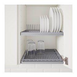 IKEA - UTRUSTA, Escurreplatos de armario, 60x35 cm, , Se puede montar en un armario de pared para liberar espacio en la encimera.Incluye una bandeja que recoge el agua de escurrir los platos y se puede sacar fácilmente para limpiarla.25 años de garantía. Consulta las condiciones generales en el folleto de garantía.