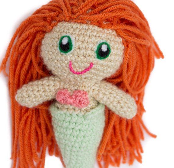 Crochet Mermaid Doll Custom Made Mermaid by TheFadedWildflower