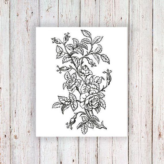 Grand tatouage temporaire floral / fleur tatouage par Tattoorary