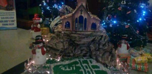 """Terungkap, Ini Motif Pelaku Tulis Lafaz """"Allah"""" di Pohon Natal di Jambi"""