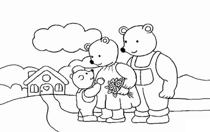 три медведя в картинках раскраска трудно приехала