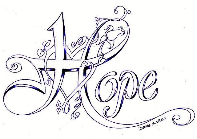 """Hope"" Tattoo Design"