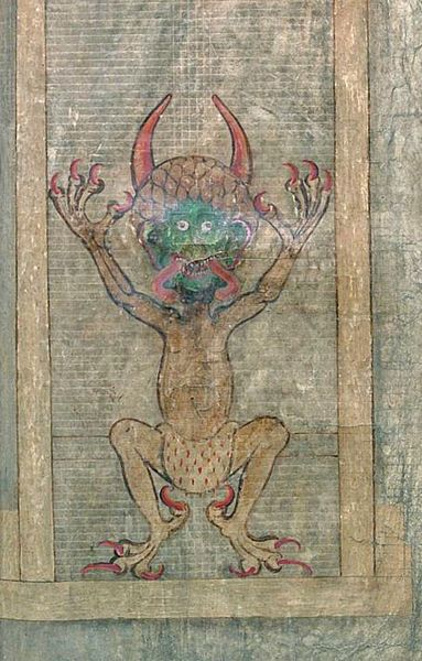 ... monk who sold his soul to the devil. Illustration of the devil, Folio