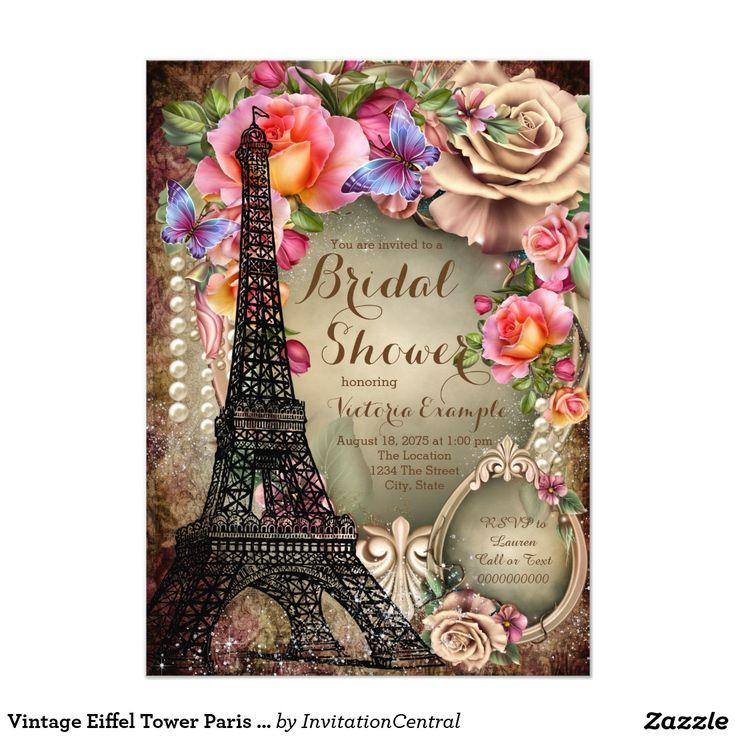 327 best WEDDING: PARIS BRIDAL SHOWER Invitations images on ...