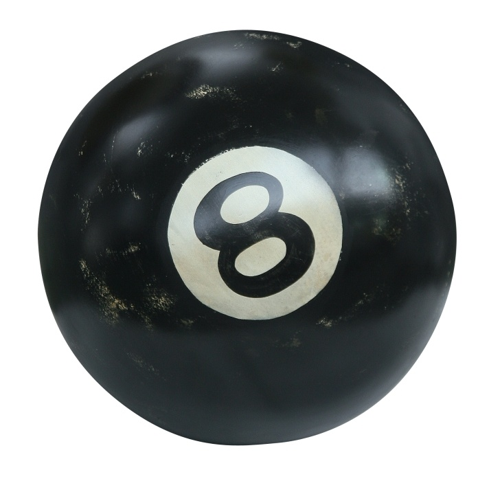 Ball, Pool Collection. Macro scale everyday items - Pool collection by AlmiDecor is a stylistic challenge against conventional solutions.  The gigantic decorative billiards ball is a daring feature for spacious interiors. Available in three sizes.