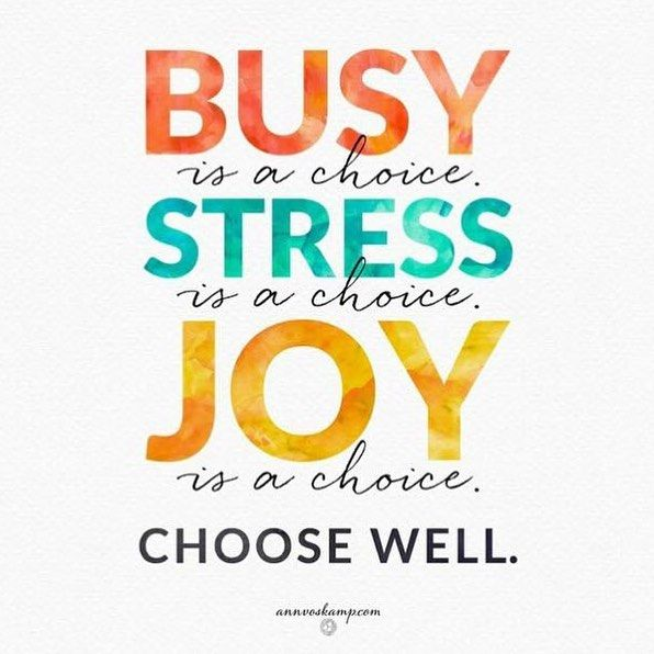 """""""Sometimes it doesn't feel like """"busy"""" or """"stressed"""" is an actual choice, but we can choose joy and overcome the pressures we face."""""""
