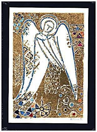 Goldene Engel, Kunst-Faltkarten