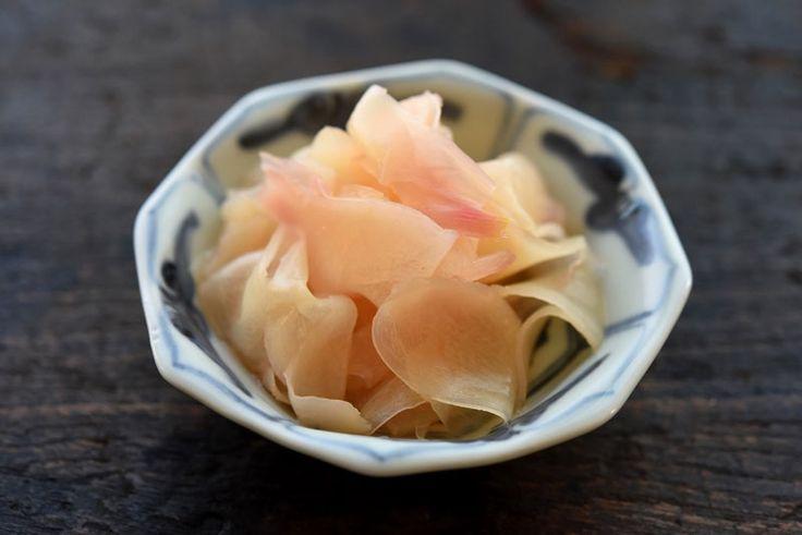 新生姜の甘酢漬け(ガリ)の写真