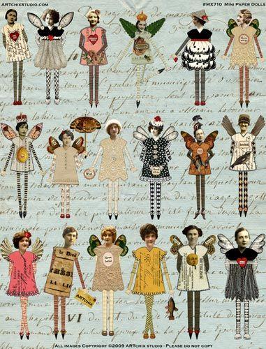 Mini Paper Dolls