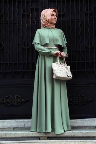 Tesettür kışlık elbise
