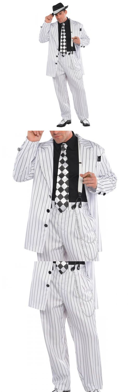 Men Costumes: Gangster Costume Adult Roaring 20S Halloween Fancy Dress -> BUY IT NOW ONLY: $48.19 on eBay!