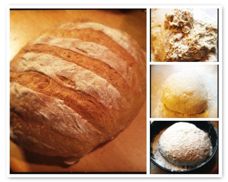 Brood zonder kneden met knapperige korst | Bread without kneading with crispy crust #recept