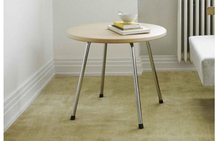 Table Basse Ronde SE 330 Design Egon Eiermann 1949 Wilde + Spieth - Meuble Sodezign - plateau bois