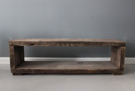 Driftwood Coffee Table / Media Stand. Handmade From Reclaimed Wood / Salvaged Barn Wood / FREE SHIPPING & Lifetime Warranty