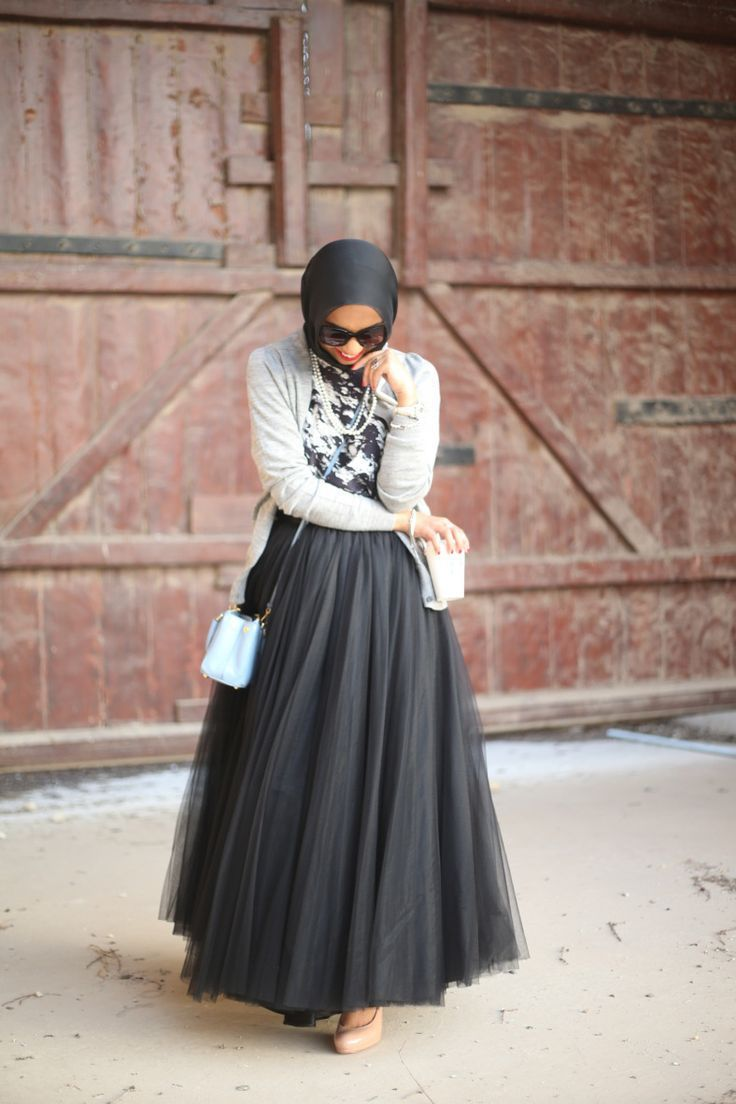 Gorgeous Tulle Skirt with Matching Hijab