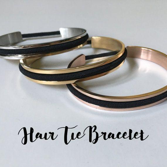Haar stropdas armband haar stropdas armband manchet kwadraat Edge Design messing…