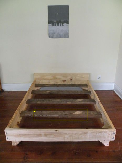 2 x 8 bed diy bed frame for Simple twin bed frame