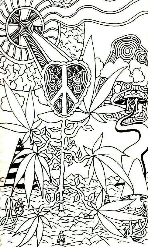 leaves by andrew padula free adult coloring pagesweed - Trippy Coloring Books