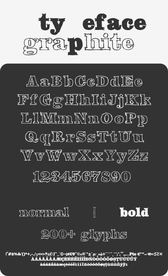 Graphite Typeface With Images Typeface Lettering Cool Fonts