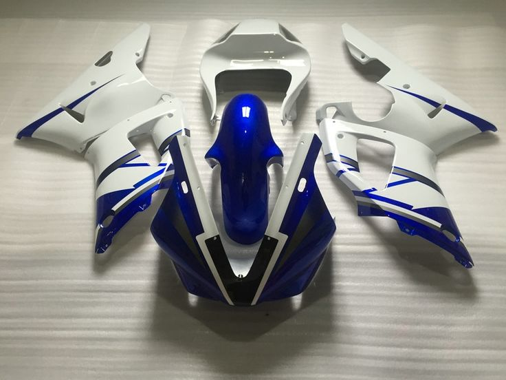 352.47$  Buy now - http://aliq63.worldwells.pw/go.php?t=32686085617 - Motorcycle Fairing kit for YAMAHA YZFR1 00 01 YZF R1 2000 2001 YZF1000 White blue Racing Fairings set+7gifts YC90