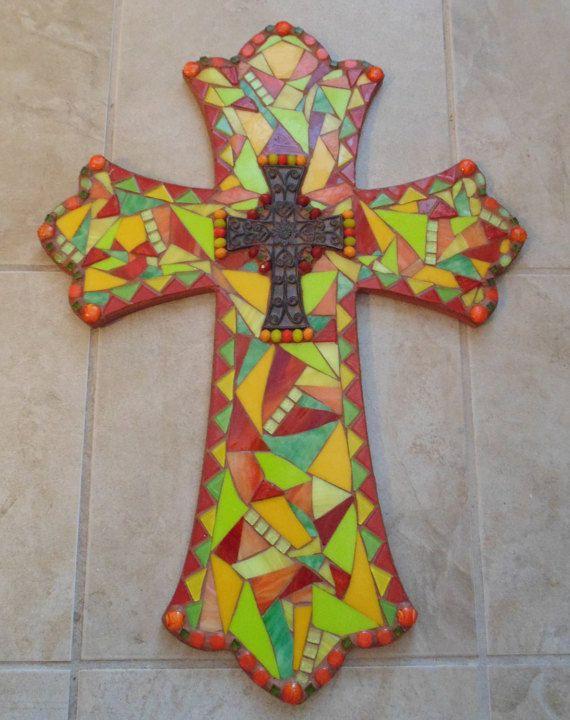 Whimsical Wall Art 269 best cross art images on pinterest | mosaic crosses, cross art