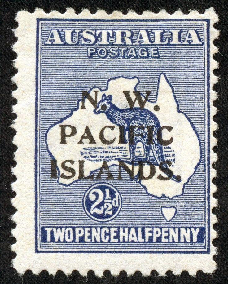 North West Pacific Islands 1915 Scott 2 2 1/2p dark blue, Wmk 8