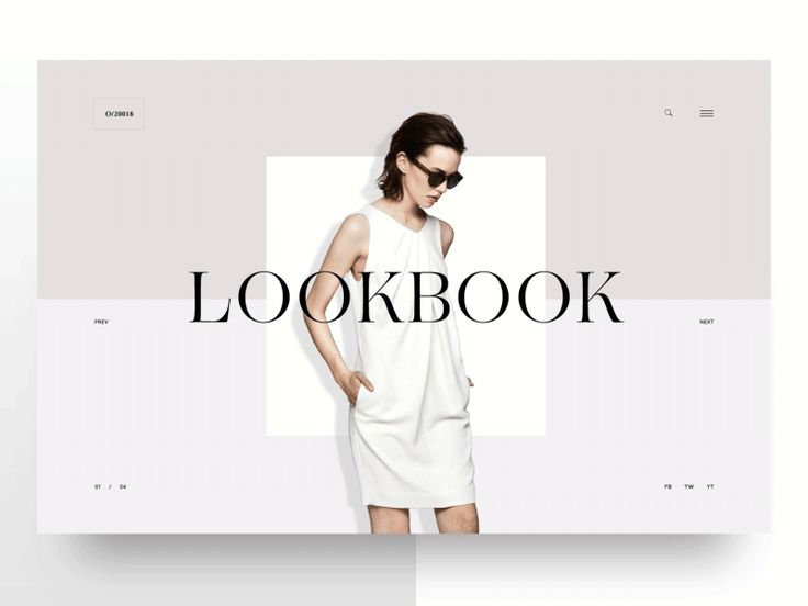 Fashion Lookbook by Hrvoje Grubisic for Degordian  UI Interactions of the week #57
