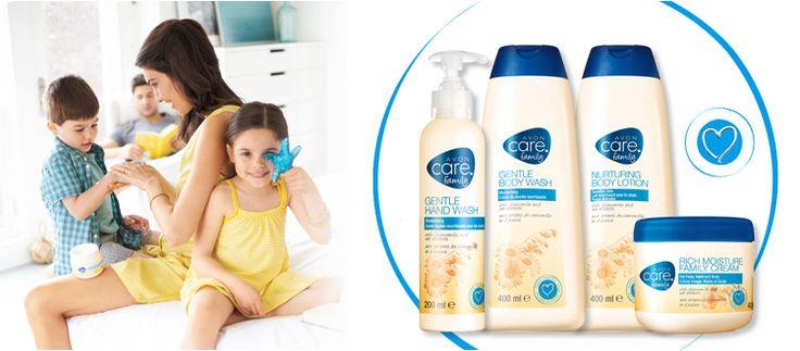 AVON CARE FAMILY. So lieblich zart für Ihre Lieben. •Leichte Formeln •Sanft parfümiert •Für Kinder ab 3 Jahren geeignet Jedes Produkt mit Kamille- & Haferextrakt zur sanften Pflege junger und empfindlicher Haut.
