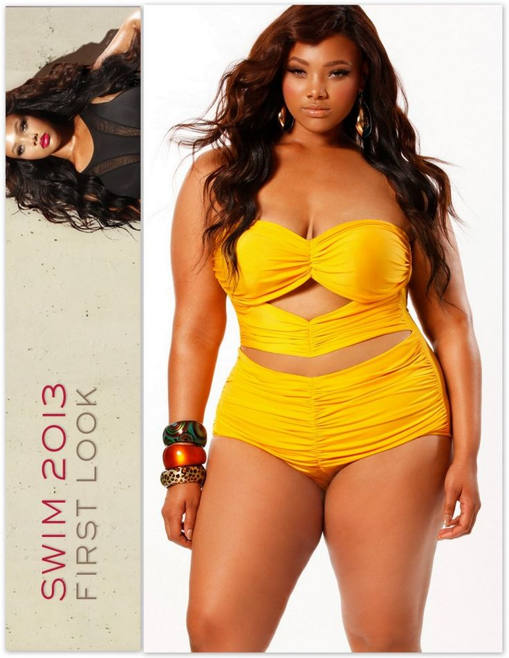 Erotic plus size swimwear