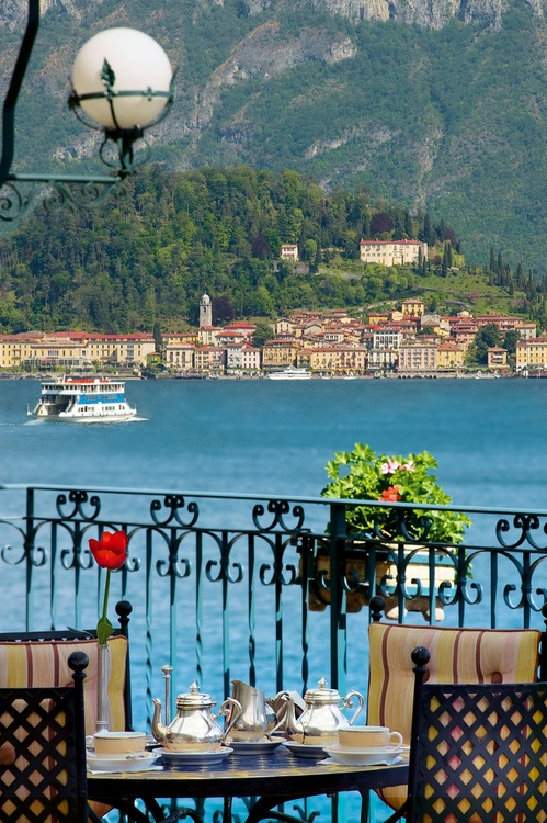 Lago di Como, Italy. This so where they filmed the wedding scene of Padme and Anakin. I need to go here some day.