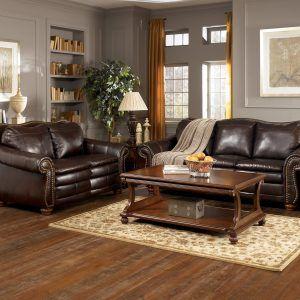 Caramel Leather Sofa Decor