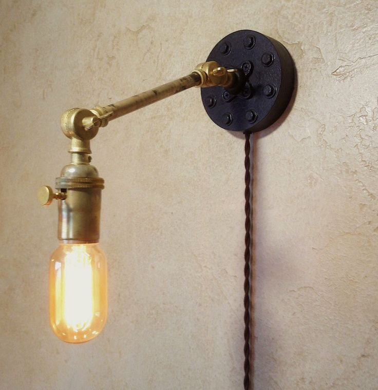 Industrial Articulating Wall Sconce Lamp By IroncladIndustrial