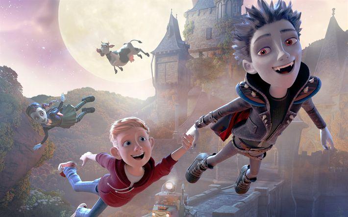 Télécharger fonds d'écran Le Petit Vampire 3D, Rudolph, 4k, 2017 film, 3d-animation