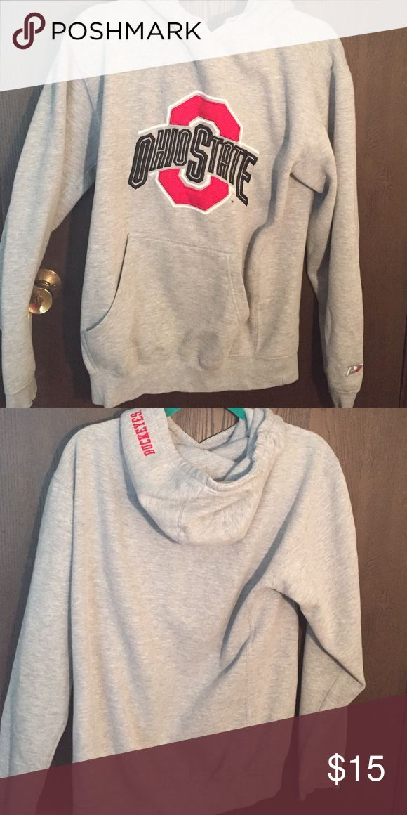 Ohio State Sweatshirt Still in very good condition for being so old. The eyelets of the strings are gone. And there is a pull on the thread of the trademark symbol near the block O. Ohio State  Tops Sweatshirts & Hoodies