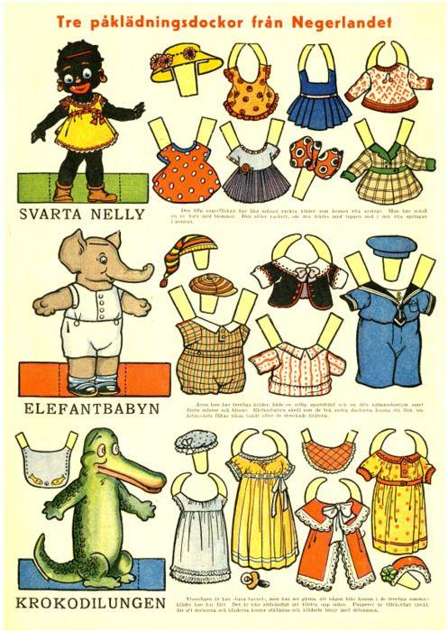 Laissez parler les p'tits papiers...Les poupées et leurs habits en papier... / paper dolls.