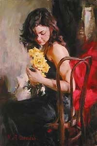 Yellow Roses - Michael and Inessa Garmash - World-Wide-Art.com - $850.00 #Garmash