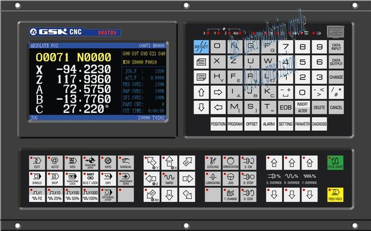 GSK 980TDb lathe CNC controller cnc control system for cnc lathe machine