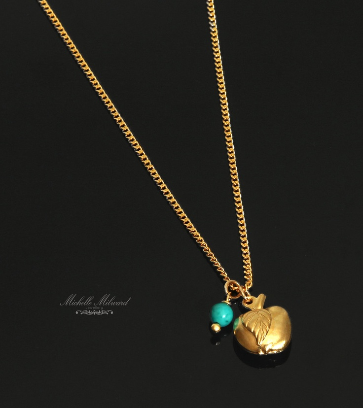 Apple+Charm+Necklace+24k+Gold+Plated+Necklace+byMichelleMilward,+$28.50