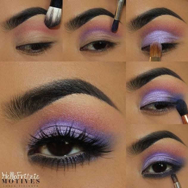 How about some purple? This step by step tutorial from #hellofritzie shows you exactly how to do this look.