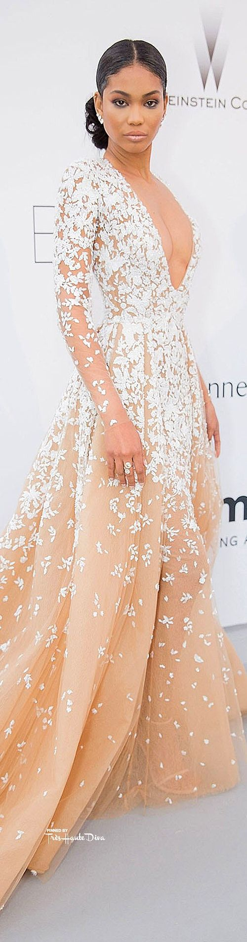 #Chanel #Iman in Zuhair Murad Couture ♔ Cannes Film Festival 2015 Red Carpet ♔ Très Haute Diva ♔