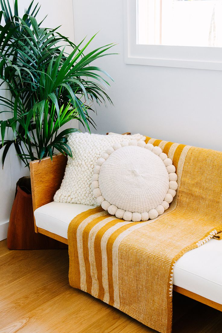 Our gorgeous handwoven cushions + our Pampa textiles at Back and Stow in Byron…