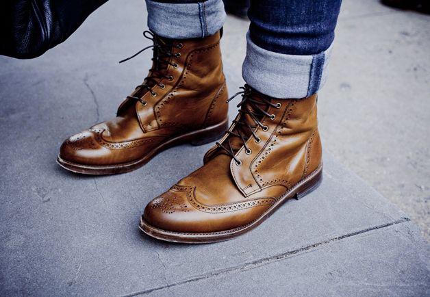 New York Street Style Photos by Ben Ferrari - Men's Street Style Boots: Style: GQ