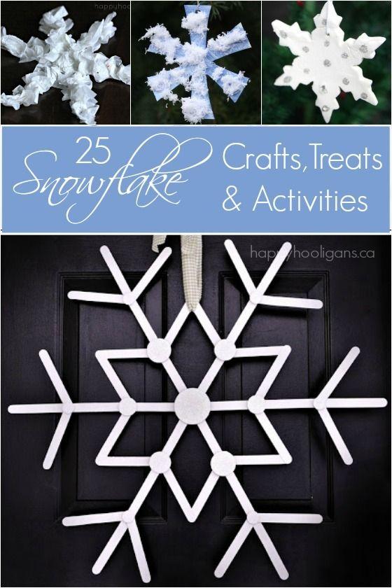 25 Snowflake crafts treats and activities - Happy Hooligans