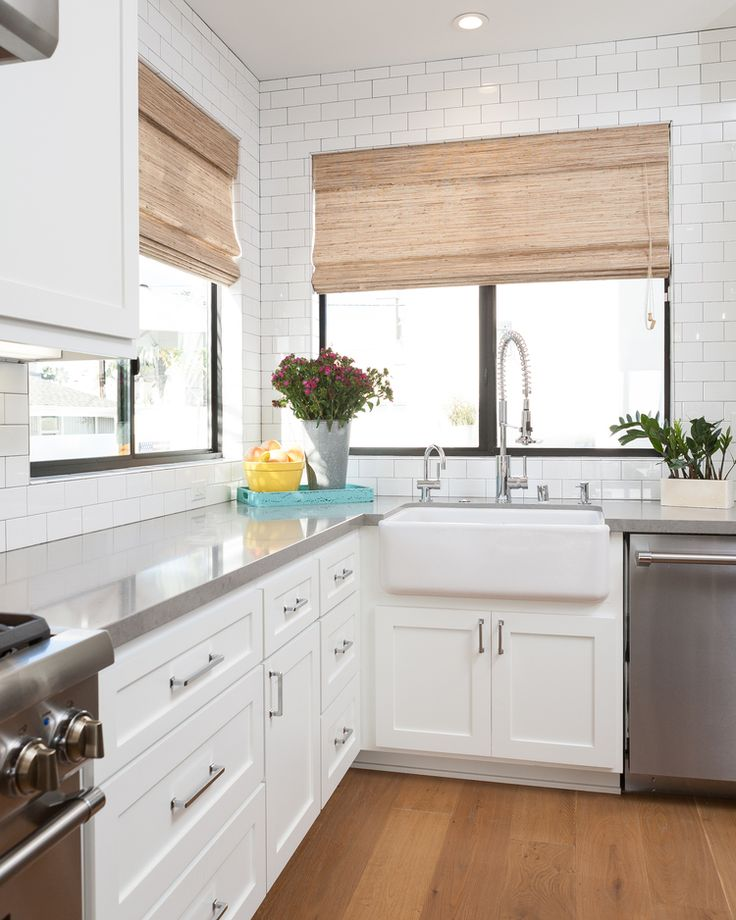 this kitchen but not a white subway tile backsplash like this shaker style kitchen cabinets on kitchen cabinets not white id=48845